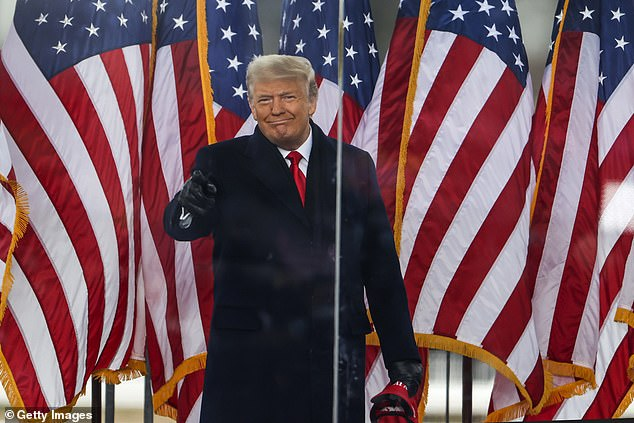 Donald Trump has started putting together a defense team for a second impeachment trial with Rudy Giuliani and Alan Dershowitz said to both be in the running. Trump at Wednesday's rally where he egged on his supporters