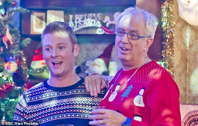 Gary Hollywood pictured left with Rory Cowan, who is seen above as Rory Brown