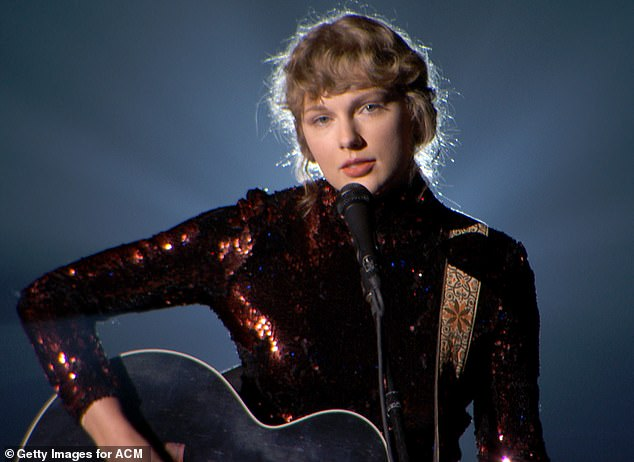 Old pro: She previously had the top-selling albums of the year with Lover (2019), Reputation (2017), 1989 (2014) and Fearless (2009) (pictured in September, 2020)