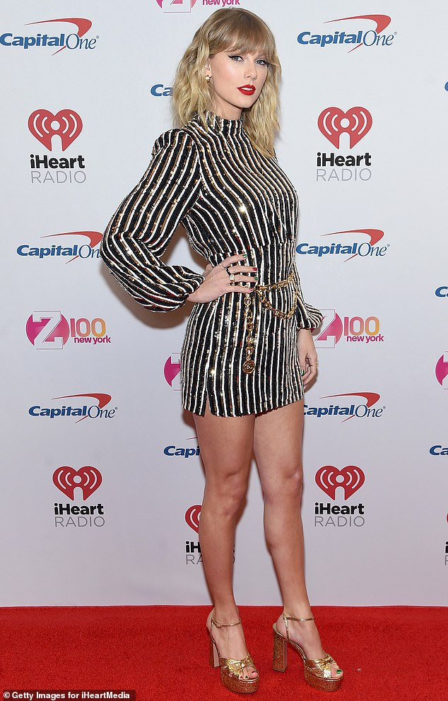 Record breaker: Taylor Swiftbroke another record recently, as her album Folklore became her fifth top-selling album of the year in the United States, making her the first artist to reach such an accomplishment (pictured in December, 2019)
