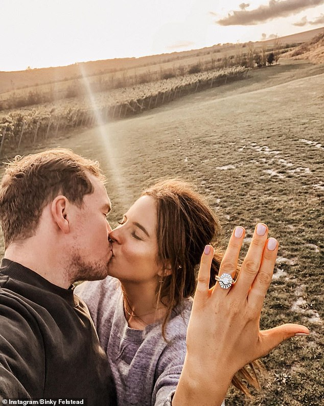Bride to be: Binky later found love again with Max and the couple announced that they are engaged to be married after 19 months of dating in September