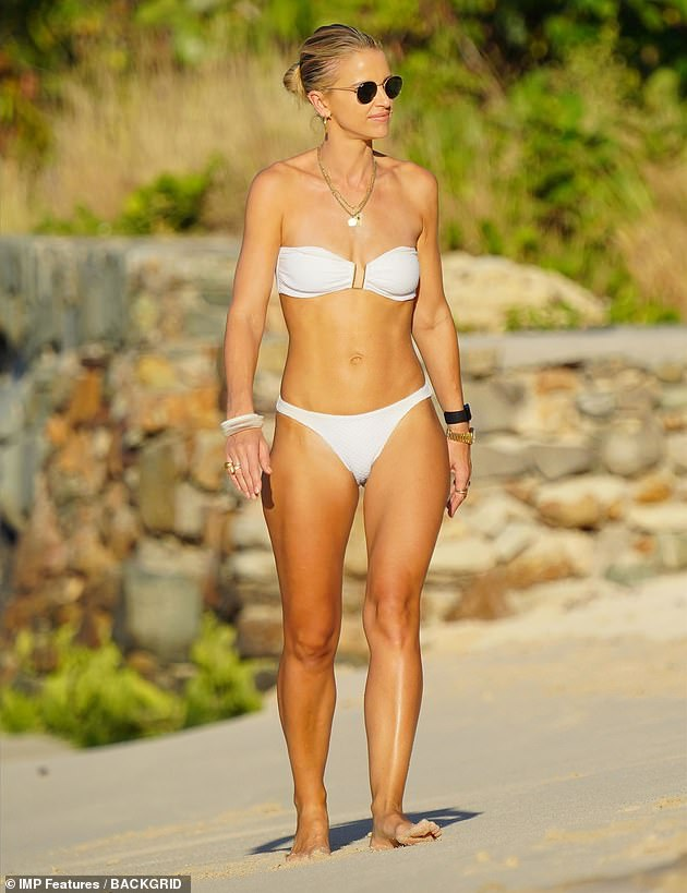 Nothing to see here!  Vogue Williams did not appear fazed by the news of England's latest lockdown, as she continued to soak up the sun in St Barts.  Tuesday after flouting London's level 4 travel rules to make the trip
