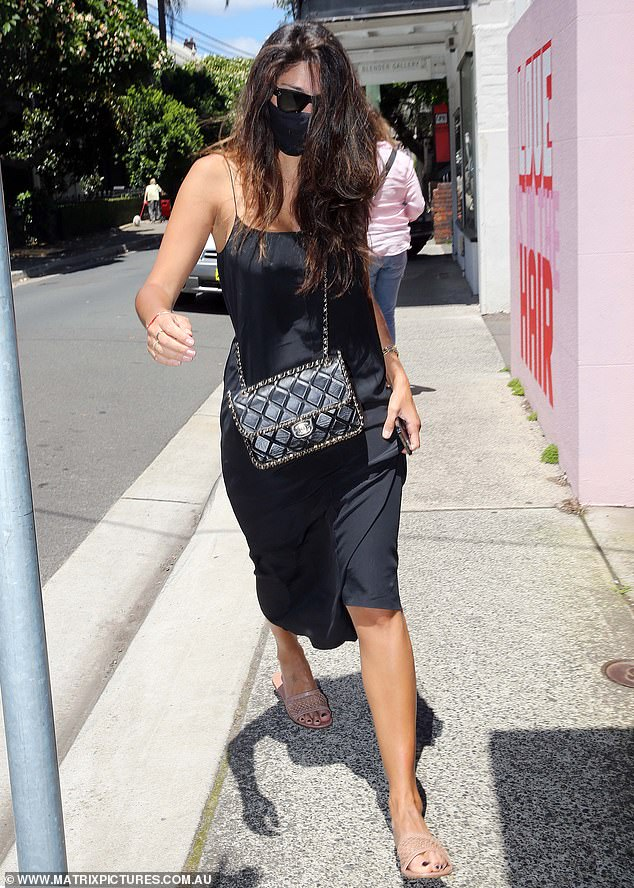 New do:Pia Miller (pictured) headed out to see Renya Xydis, stylist to the stars, at Valonz Haircutters in Paddington on Sunday