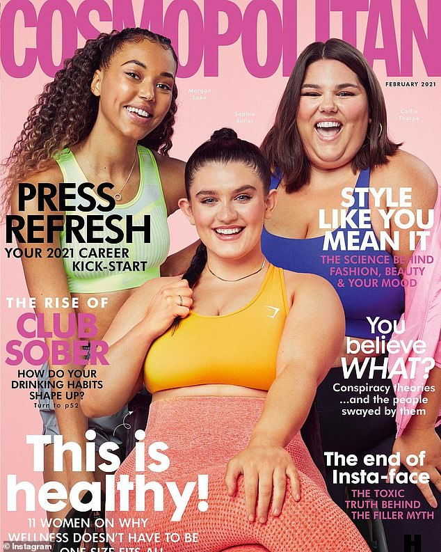 The cover has divided readers with some praising the magazine for its portrayal of health while others have slammed its message as being dangerous