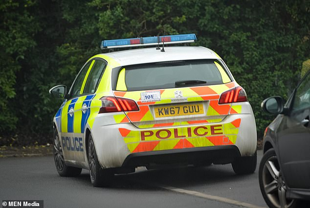 A witness said five orsix police cars arrived at the street, pictured, and aninvestigation is ongoing.Greater Manchester Policehave issued an urgent appeal for witnesses
