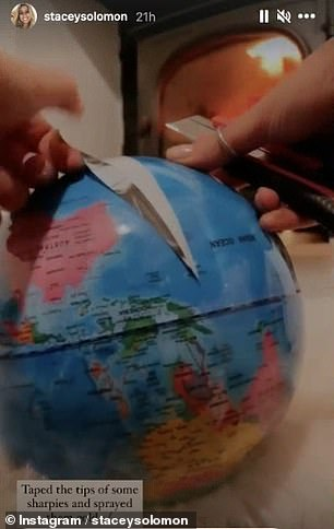Satisfying: She peeled the map away
