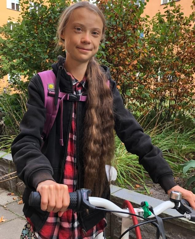 Climate change activist Greta Thunberg, 18, (pictured) questioned the UK's 'green revolution'after Boris Johnson's government approved a bee killing pesticide 'so poisonous that it is banned by the EU'