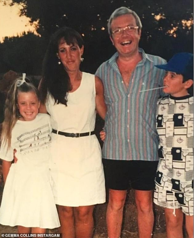 Heartache: Gemma took a break from social media over New Years and returned by sharing a family photo showing her as a youngster alongside brother Russell and their parents
