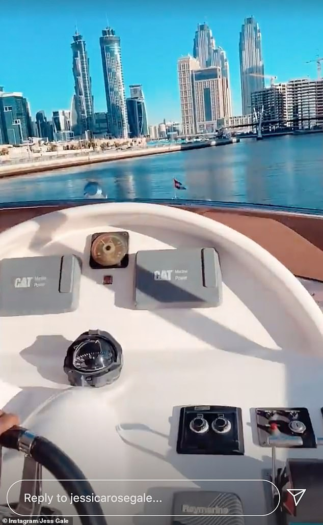 The star gave fans a glimpse of her relaxed day to her Instagram story, as she and Eve enjoyed a boat trip, taking in the breathtaking views that Dubai has to offer