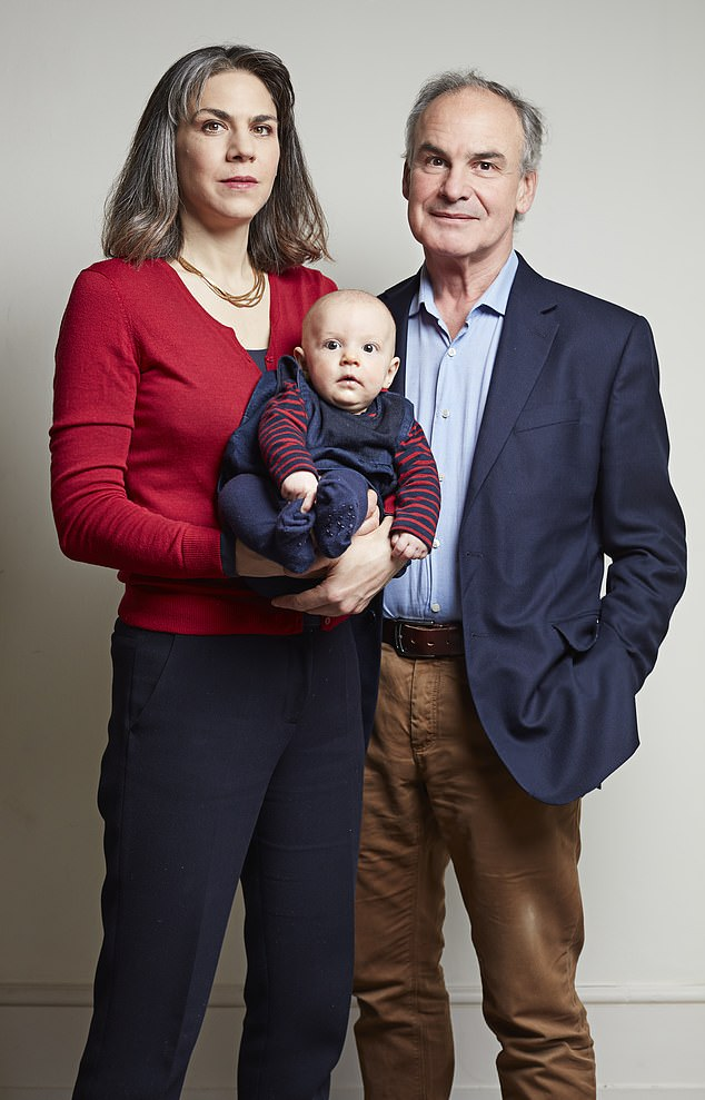 Blanche, 42, and Anthony, 63, (pictured together with Ottilie) met by chance as Covid struck and the result was a lockdown love story like no other