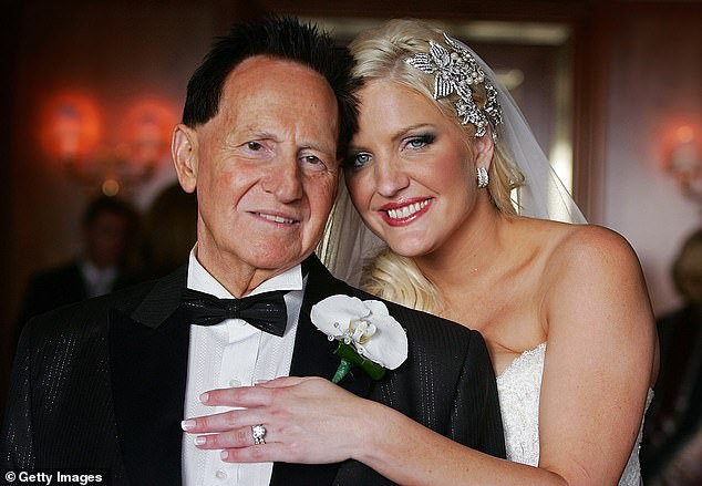 Money woes: In June 2016, Brynne was declared bankrupt by Melbourne's Federal Circuit Court. She had told The Kyle and Jackie O Show the previous year she'd hoped for a large monetary settlement, but this didn't happen. Pictured on her wedding day inNovember 2009