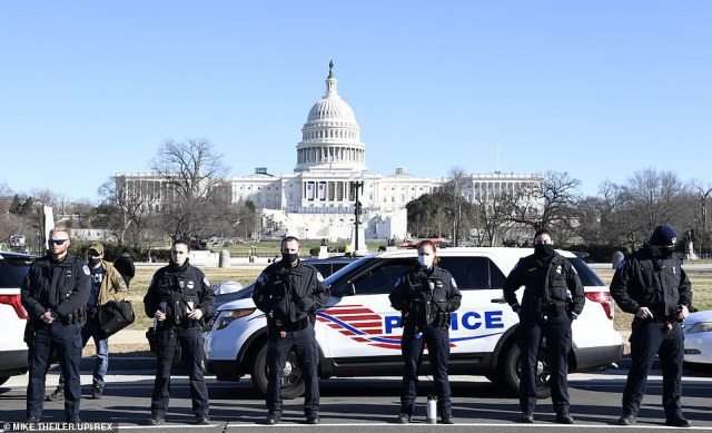 There is beefed up protection in the days before the January 20 Inauguration of President-elect Joe Biden and Vice President-elect Kamala Harris with heavy security around US Capitol in aftermath of last week's rioting