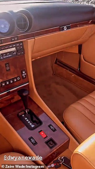 Inside look: The white Mercedes with brown leather interior can cost between $10K and $100K depending on the condition