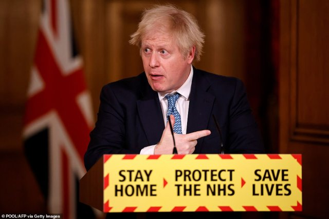 Boris Johnson (pictured) held a meeting to discuss an even-tougher lockdown with limits on exercise, compulsory mask-wearing outdoors and no more social bubbles all being floated by ministers, sources claim