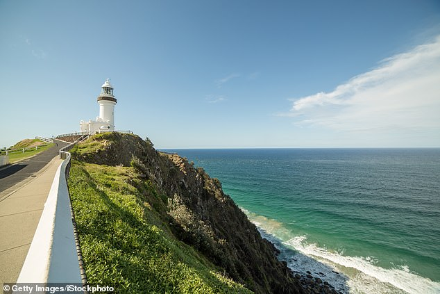 Byron Bay (pictured) is a favourite spot for tourists with its picturesque beaches. Many like to stay with Airbnb hosts, some of whom regularly have to shop for bulk toilet paper