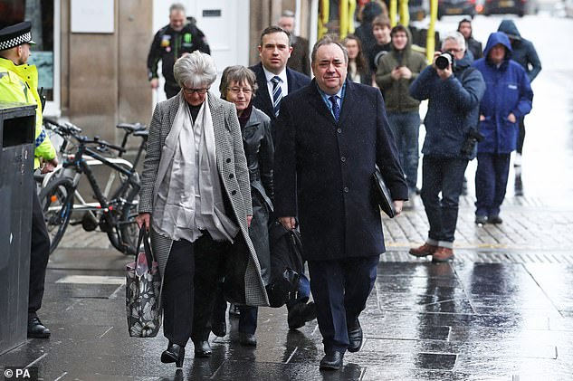 In an explosive intervention, the former First Minister (pictured in March) accused his successor of making 'ridiculous' and 'wholly false' claims about their meetings to discuss the handling of complaints against him