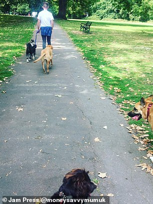 The couple, who run a dog-walking business, began increasing their services to seven days a week in order to earn more