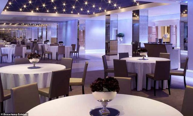 Having a ball! The large lower ground floor reception room is big enough for a gala dinner or formal reception