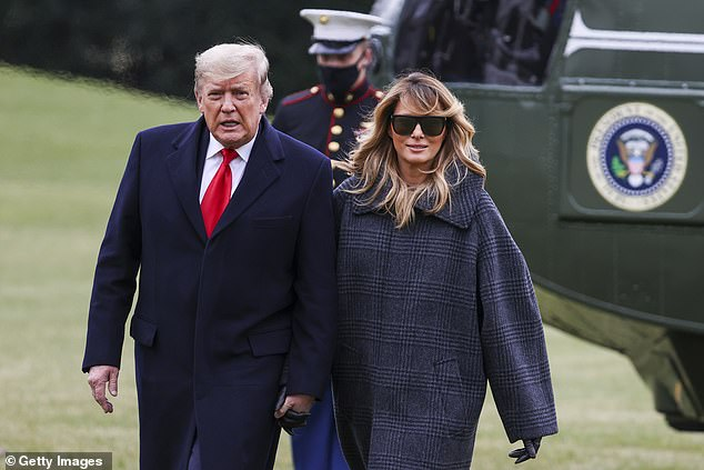 Melania Trump today broke her silence on last week's mob attack on the Capitol, saying she 'absolutely condemns the violence' incited by her husband