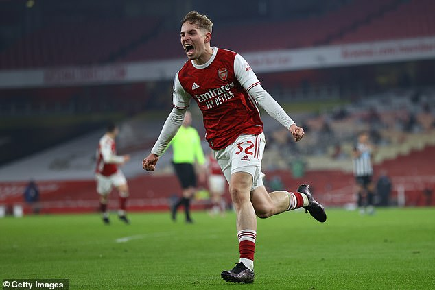 Emile Smith Rowe's latest performance in his rise at Arsenal saw him score against Newcastle