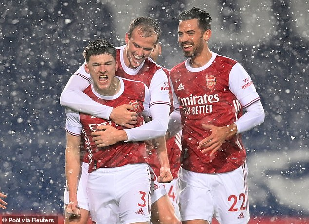 The left-back has been an outstanding player for the Gunners and scored a superb solo goal against West Brom earlier this month.