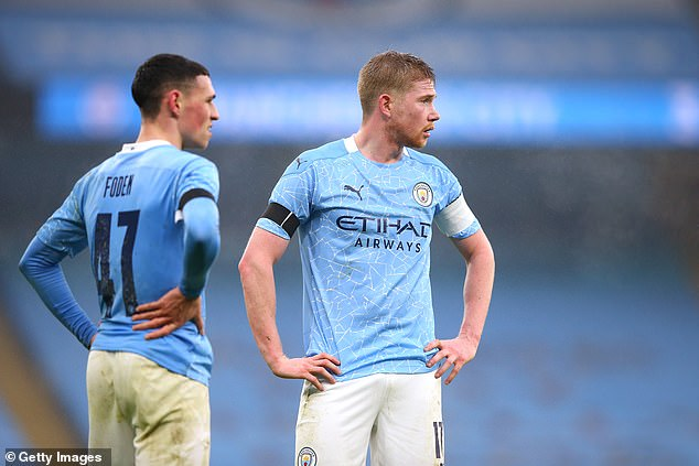 Smith Rowe is called the 'Croydon De Bruyne' in reference to Manchester City's Kevin (right)