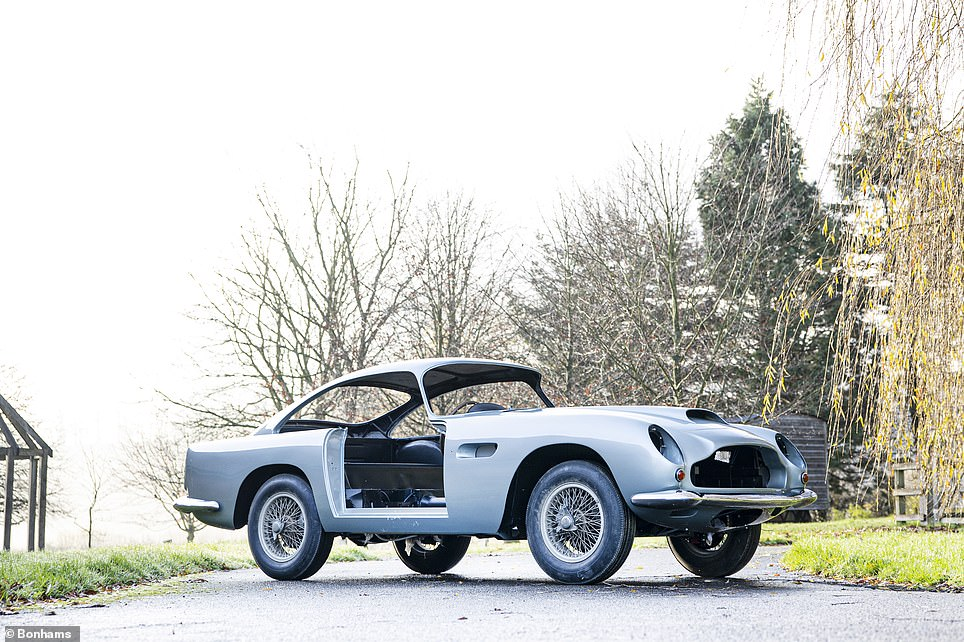 Bonhams says this gives the 'opportunity for the next custodian to complete its reassembly as David Picking had intended', which would see the car finished in its original 'Snow Shadow' grey pain and red leather interior.