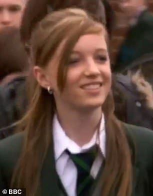 Wow: Phoebe, 25, played Siobhan Mailey from 2009-2010