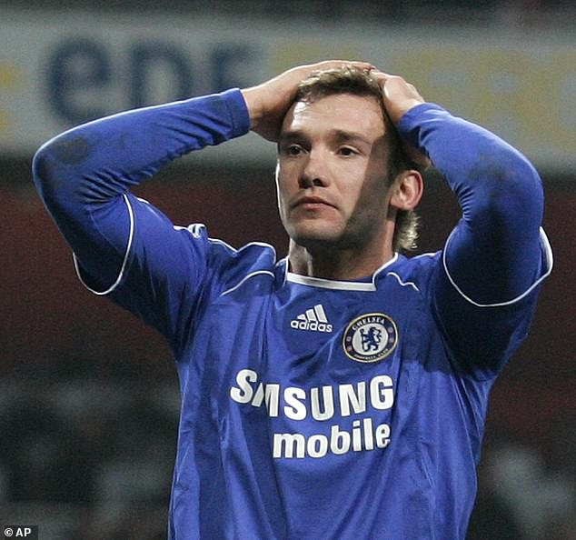 Andriy Shevchenko had been a great striker but was well past his best when at Chelsea