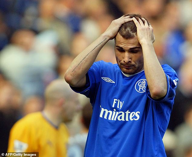 Adrian Mutu's Chelsea career was wrecked when he tested positive for cocaine in 2004