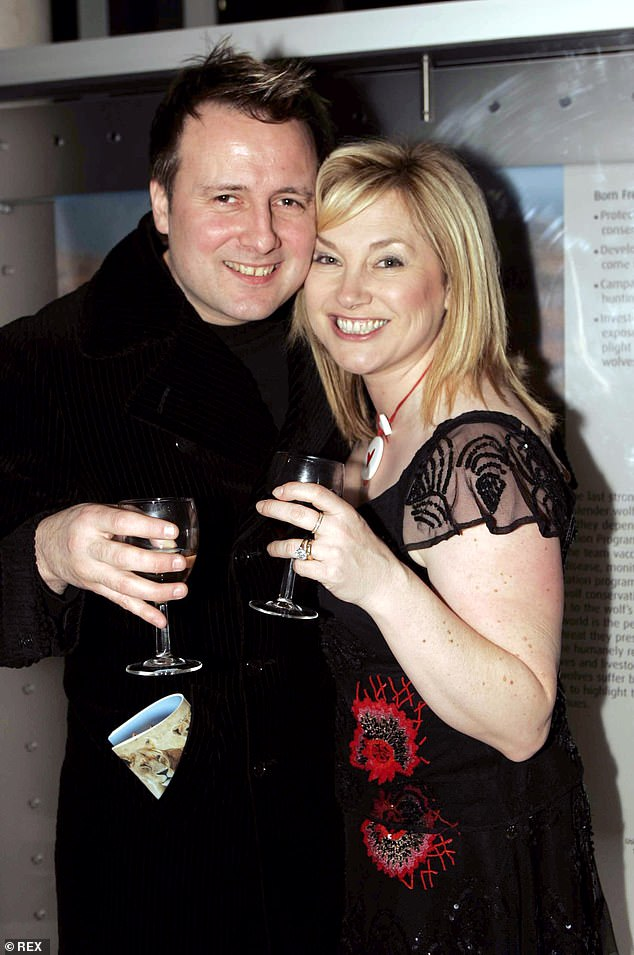 Heartbreaking:Former EastEnders star Gary Webster has revealed that his mother has died from coronavirus (pictured with wifeWendy Turner in2005)