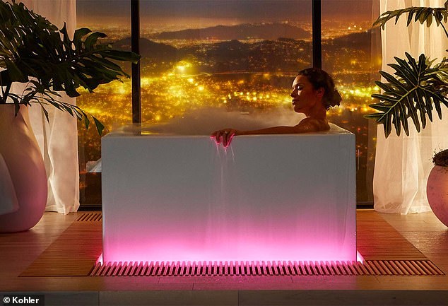 kohler unveils a 16 000 led bathtub at