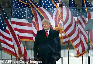 The wreath laying also highlights the growing isolation of outgoing President Donald Trump