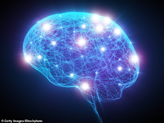 Analysis of brain tissue found the specific group of cells disappear very early on - followed by a similar subset in the superior frontal gyrus (stock image)