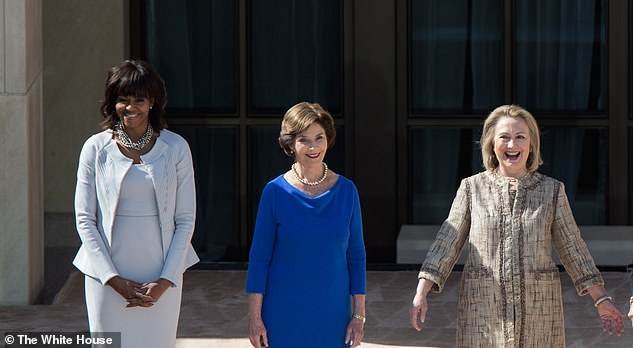 Former first ladies Michelle Obama, Laura Bush and Hillary Clinton will also be on hand