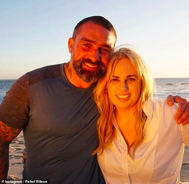 Excited: On Sunday, Rebel shared a sun-soaked snap with Ant, penning 'This is what I look like 3 days into the Mexican wilderness with Ant Middleton'