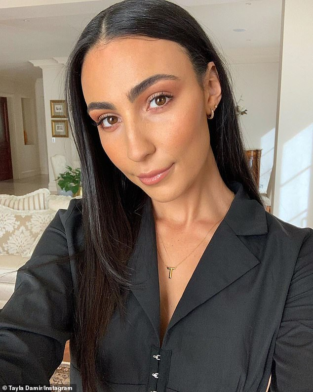 Hitting back: The account has attracted criticism, with the likes of Skye Wheatley and Tayla Damir (pictured) accusing the admin of 'bullying' them by correcting their spelling