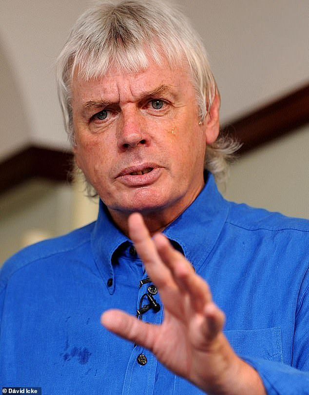 Disgraceful: Last year, Evans landed himself in hot water when he interviewed conspiracy theorist David Icke on his podcast, before praising the conversation as 'enlightening'
