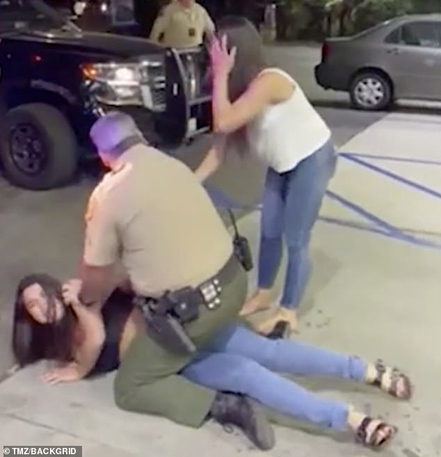 Way back when: On Monday, video footage emerged of Ponsetto being arrested for a DUI in October. In the clip, she is once again seen modeling a crop top and Birkenstock sandals