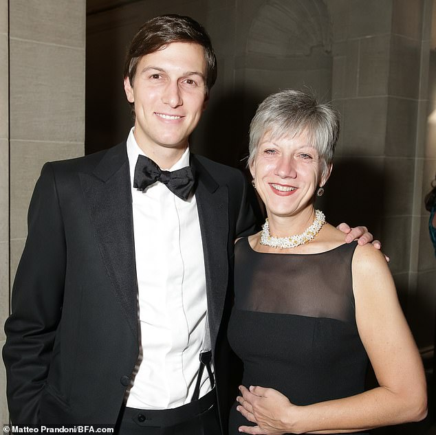 In November, Deutsche Bank said that Trump's longtime banker had resigned. Rosemary Vrablic, an employee in the private banking division, oversaw the approval of hundreds of millions of dollars in loans to Trump's company over several years.Vrablic is pictured with the president's son-in-law Jared Kushner