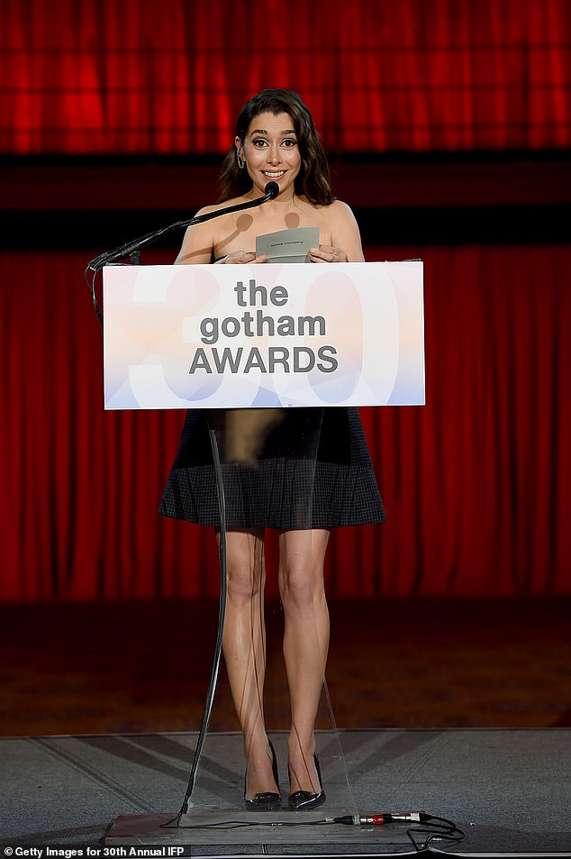 Jokes:She then joked that Rudy Guilliani challenged the award, and it should go to the 2004 film Superbabies: Baby Geniuses 2, though it was recently cleared up