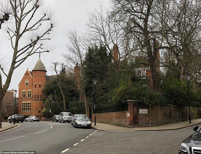 Away from the Ilchester Place construction drama, Page and the former Take That singer have been at odds since Williams bought the adjacent Grade II listed house, pictured behind trees, for £ 17.5million in 2013