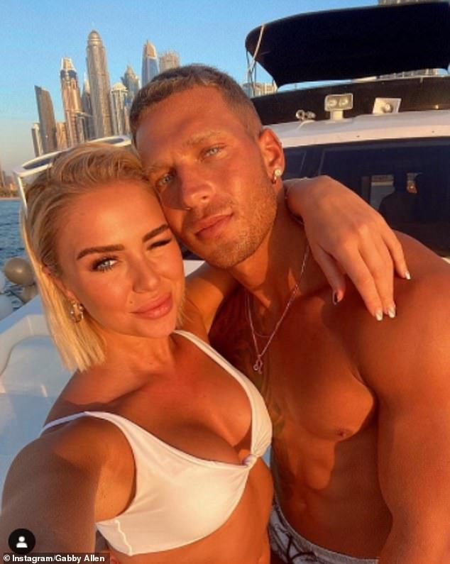 Work trip: Gabby previously told her fans that she and boyfriend Brandon Myers are in Dubai as his business is based in the city. She has reported dropped  2,000 followers