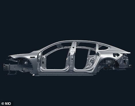 The chassis is a combination of high-strength steel and aluminium and it sits on a state-of-the-art air suspension system
