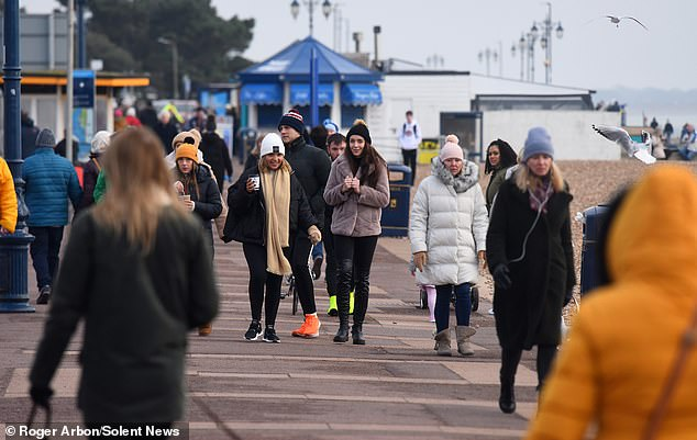 It comes as a local council took to the sky to launch their own Covid crackdown, using a drone to spy on potential lockdown rule breakers as they walked along a busy seafront