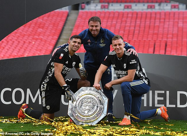 Emiliano Martinez (left) was a fine back-up last season after Bernd Leno (right) got injured