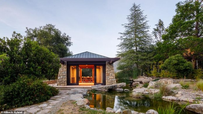 Tea for two: There is a meditation center, koi pond, and tea room on site
