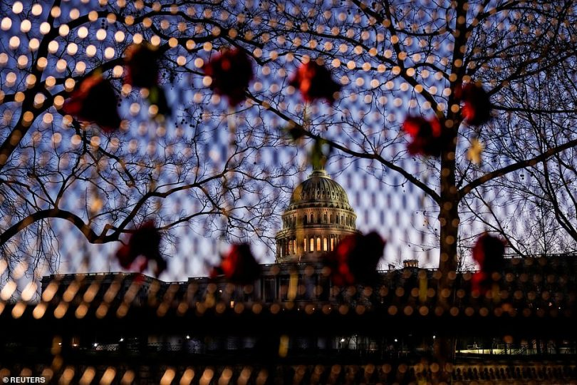 Security fences have been erected all over D.C., including around the Capitol, White House and federal monuments