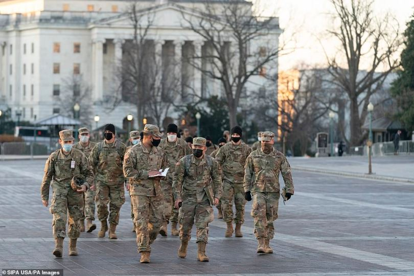 National Guard and other law enforcement in the city are bracing for more attacks on the nation's capital in the wake of the Capitol breach last Wednesday as Democrats moving forward with impeachment this week