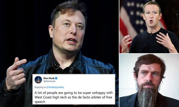 Elon Musk tears into the 'West Coast high tech' after Parler scrubbed